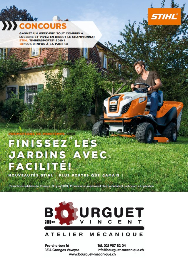 Stihl – Promotions de printemps 2019